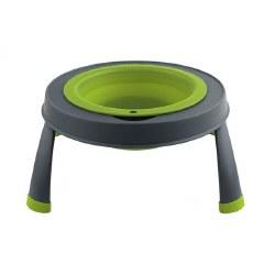 Dexas - Single Elevated Feeder - Green - 4 cups