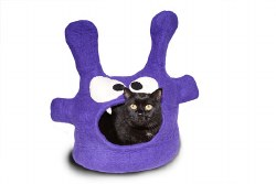 Dharma Dog Karma Cat - Felted Bed - Monster Cave - Purple