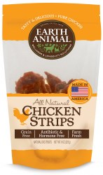 Earth Animal Chicken Cutlets - All Natural Chicken Strips - Dog Treats - 8 oz