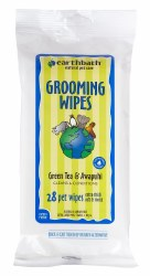 Earthbath - Grooming Wipes for Dogs - Green Tea and Awapuhi - 28 ct