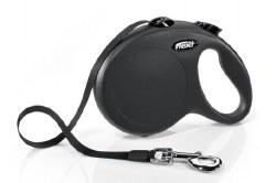 Flexi - Classic Tape Retractable Dog Leash - Black - Large - 16'