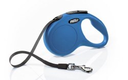 Flexi - Classic Tape Retractable Dog Leash - Blue - Small - 16'