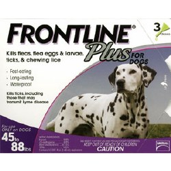 Frontline Plus - 45 to 88 lb Dog - 3 months