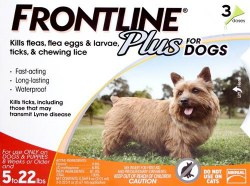 Frontline Plus - 0 to 22 lb Dog - 3 months