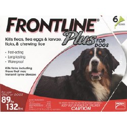 Frontline Plus - 89 to 132 lb Dog - 6 months