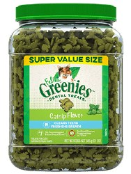Feline Greenies - Catnip Flavor Dental Treats - Cat Treats - 21 oz