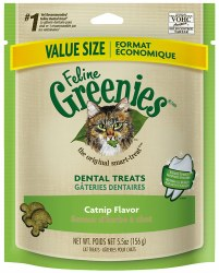 Greenies - Catnip Flavor Dental Treats - Cat Treats - 5.5 oz