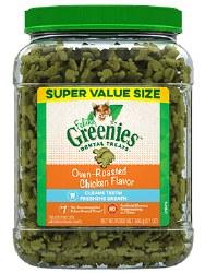 Feline Greenies - Chicken Flavor Dental Treats - Cat Treats - 21 oz
