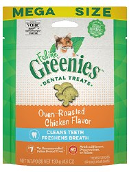 Feline Greenies - Chicken Flavor Dental Treats - Cat Treats - 4.6 oz