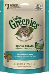 Greenies - Ocean Fish Flavor Dental Treats - Cat Treats - 2.5 oz