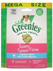 Feline Greenies - Salmon Flavor Dental Treats - Cat Treats - 4.6 oz