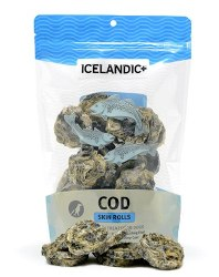 Icelandic+ - Dog Treats - Cod Skin Rolls - 3 oz