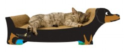 Imperial Cat - Cardboard Scratcher - Black Dachshund - Small