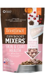 Instinct Raw Boost Mixers - Skin & Coat Health - Freeze Dried Dog Food - 5.5 oz