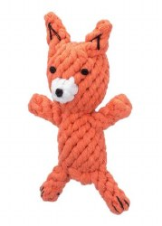 Jax & Bones - Rope Dog Toy - Fox - Large