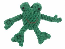 Jax & Bones - Rope Dog Toy - Frog - Small