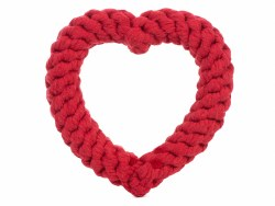 Jax & Bones - Rope Dog Toy - Heart