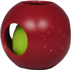 Jolly Pet - Dog Toy - Teaser Ball - Red - 4.5""