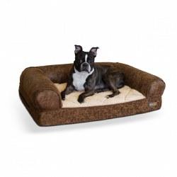 K&H - Bomber Sofa Dog Bed - Brown - Medium