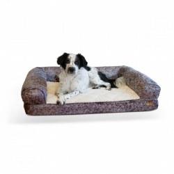 K&H - Bomber Sofa Dog Bed - Gray - Large