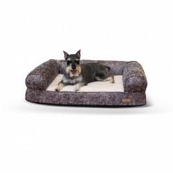 K&H - Bomber Sofa Dog Bed - Gray - Medium
