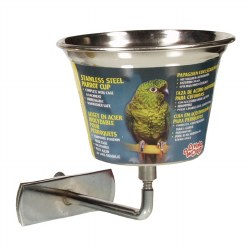 Living World - Stainless Steel Cup for Birds - 12 oz