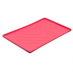 Messy Mutts - Silicone Food Mat with Rods - Red - Medium