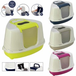Moderna - Cat Litter Box - Corner Flip - Blueberry