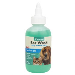 NaturVet - Ear Wash plus Tea Tree Oil - 4 oz