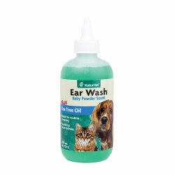 NaturVet - Ear Wash plus Tea Tree Oil - 8 oz