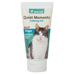 NaturVet - Quiet Moments Plus Ginger - Cat Calming Aid - Gel - 3 oz