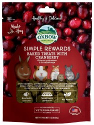 Oxbow Simple Rewards - Baked Treats with Cranberry - 2 oz