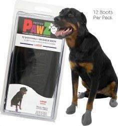 Pawz Dog Boots - Black - Large