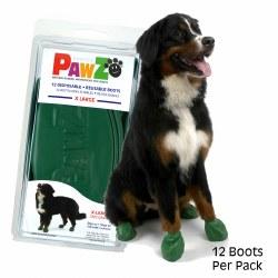 Pawz Dog Boots - Green - Extra Large