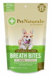 Pet Naturals - Breath Bites for Dogs - Soft Chews - 60 ct