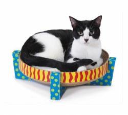 Petstages - Cardboard Scratcher - Snuggle Scratch and Rest