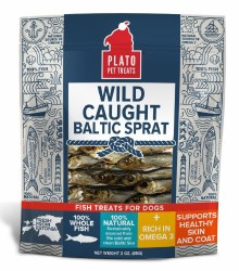 Plato - Wild Caught Baltic Sprat - Dog Treats - 3 oz