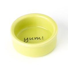 Petrageous - Stoneware Pet Bowl - Yum Time - 1 oz