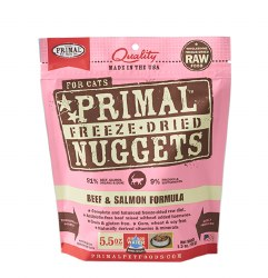Primal - Beef and Salmon Formula - Freeze Dried Cat Food - 5.5 oz