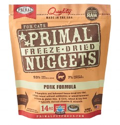 Primal - Pork Formula - Freeze Dried Cat Food - 14 oz