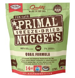 Primal - Quail Formula - Freeze Dried Cat Food - 14 oz