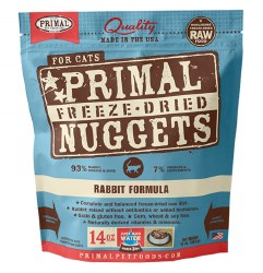Primal - Rabbit Formula - Freeze Dried Cat Food - 14 oz