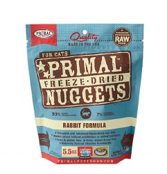 Primal - Rabbit Formula - Freeze Dried Cat Food - 5.5 oz