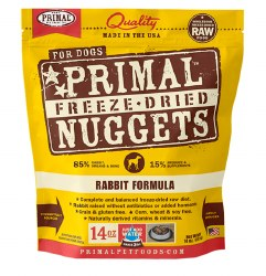 Primal - Rabbit Formula - Freeze Dried Dog Food - 14 oz