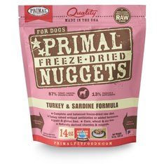 Primal - Turkey and Sardine Formula - Freeze Dried Dog Food - 14 oz