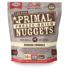 Primal - Venison Formula - Freeze Dried Dog Food - 14 oz