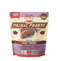 IN STORE AND CURB-SIDE PICK UP ONLY - Primal Pronto - Turkey Formula - Raw Cat Food - 1 lbs