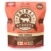 IN STORE AND CURB-SIDE PICK UP ONLY - Primal - Pork Formula - Raw Cat Food - 3 lb