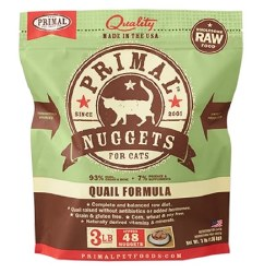 IN STORE AND CURB-SIDE PICK UP ONLY - Primal - Quail Formula - Raw Cat Food - 3 lb