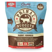 IN STORE AND CURB-SIDE PICK UP ONLY - Primal - Rabbit Formula - Raw Cat Food - 3 lb